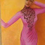 Femme à la dentelle - 65 x 81 cm