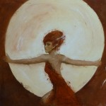 Lune Rousse - 90 x 90 cm